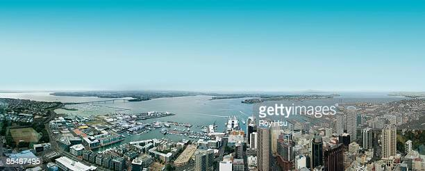 Aerial view of downtown Auckland, New Zealand