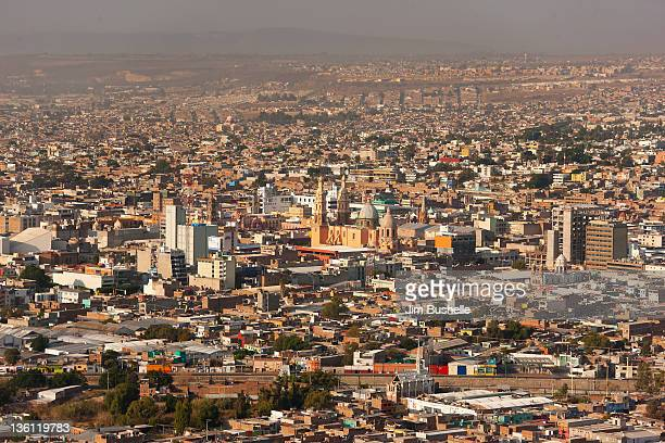 aerial view of downtown leon mexico - león mexico stock photos and pictures