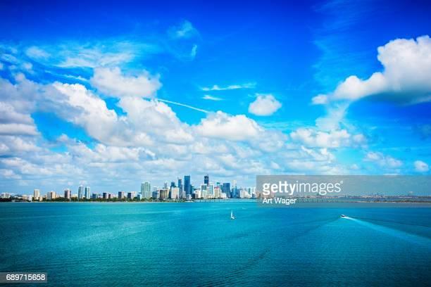 Luftaufnahme der Innenstadt von Miami, Florida