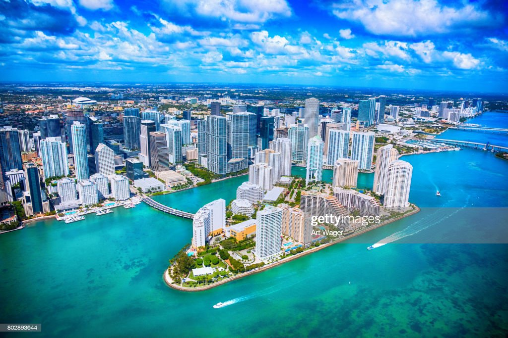 Aerial View of Downtown Miami Florida : Stock Photo