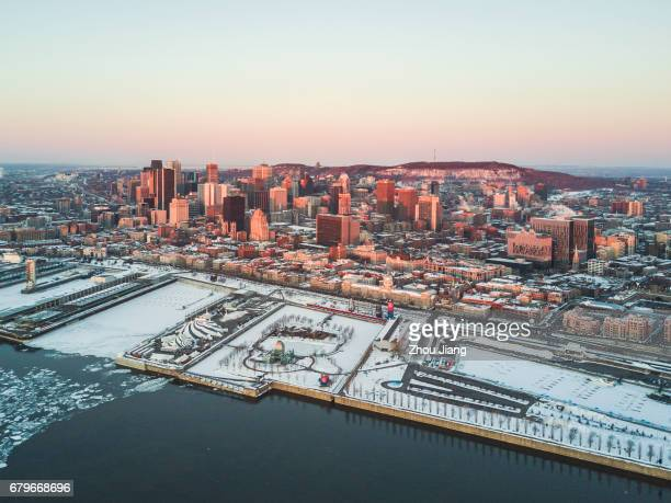 Aerial view of downtown Montreal