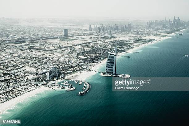 aerial view of dubai - claire plumridge stock pictures, royalty-free photos & images