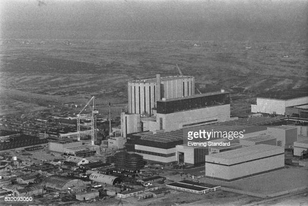 Aerial view of Dugeness B Nuclear Power Station Kent UK 10th March 1978