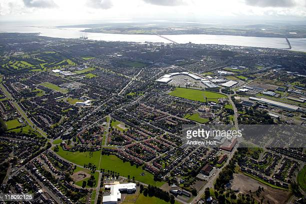 Aerial view of Dundee, Scotland