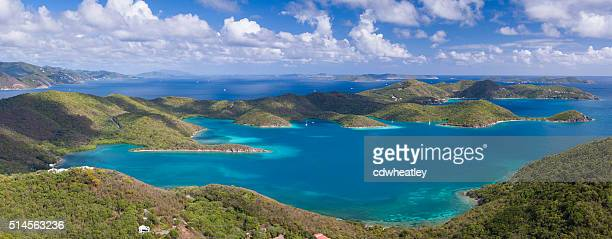 aerial view of East End, St.John, US Virgin Islands