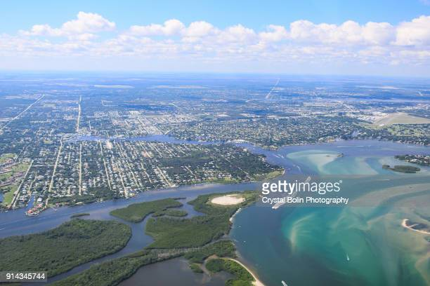 Aerial View of Eastern South Florida Coastline