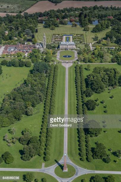 KINGDOM JUNE 10 Aerial view of Eaton Hall in Cheshire on June 10 2015 Located four miles south of Chester this French châteaux style mansion was the...