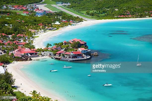 Vue aérienne d'Eden Rock, Saint-Barthélemy, français Antilles