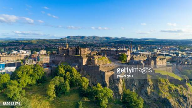 Aerial view of Edinburgh Castle