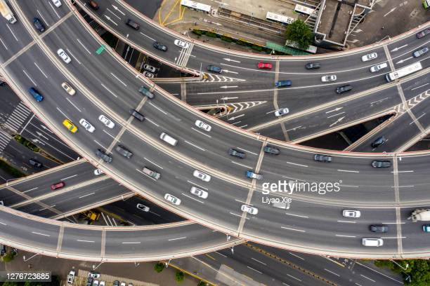 aerial view of elevated road - liyao xie ストックフォトと画像