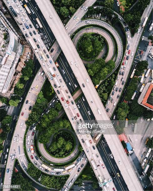 Aerial View Of Elevated Roads In China
