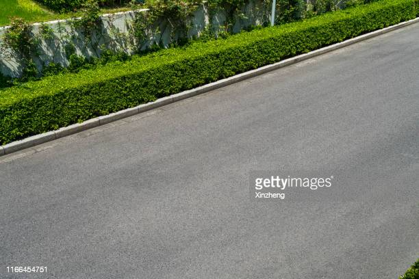 aerial view of empty asphalt road - paved driveway stock pictures, royalty-free photos & images