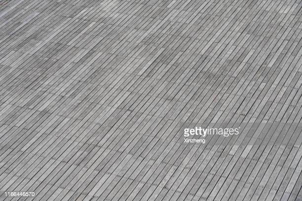 aerial view of empty patio, empty parking lot - observation point stock pictures, royalty-free photos & images