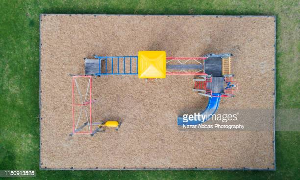 aerial view of empty playground. - nazar abbas photography stock pictures, royalty-free photos & images