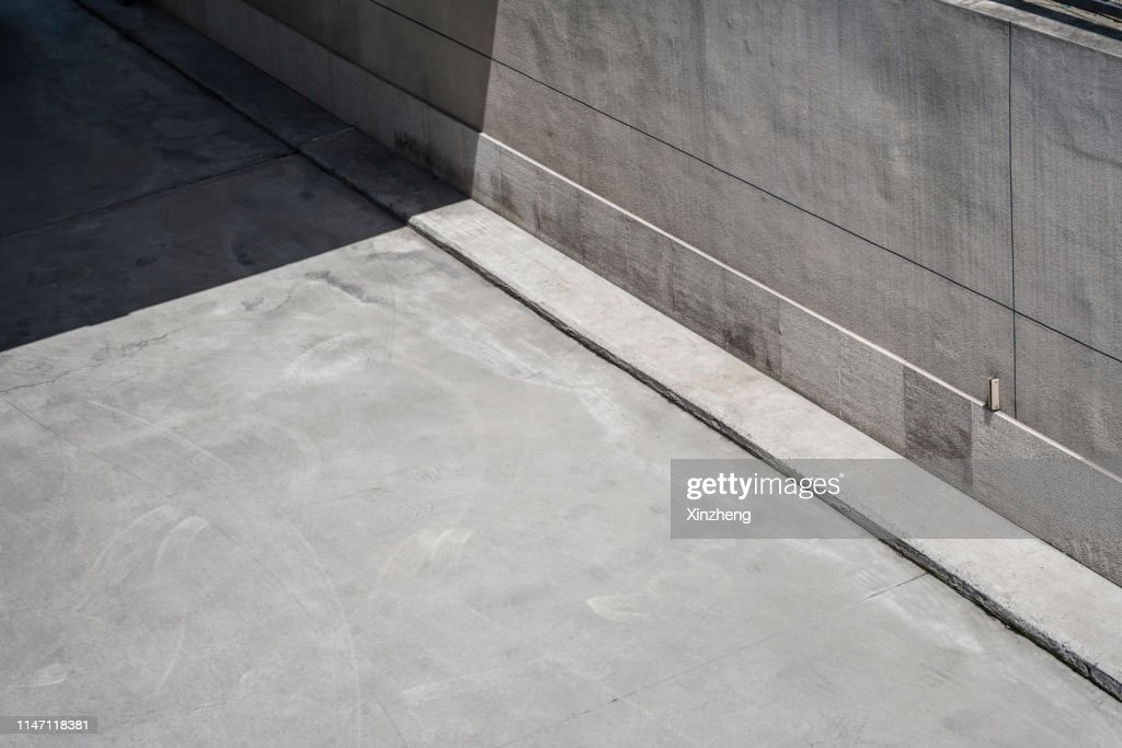 Aerial View Of Empty Road : Stock Photo