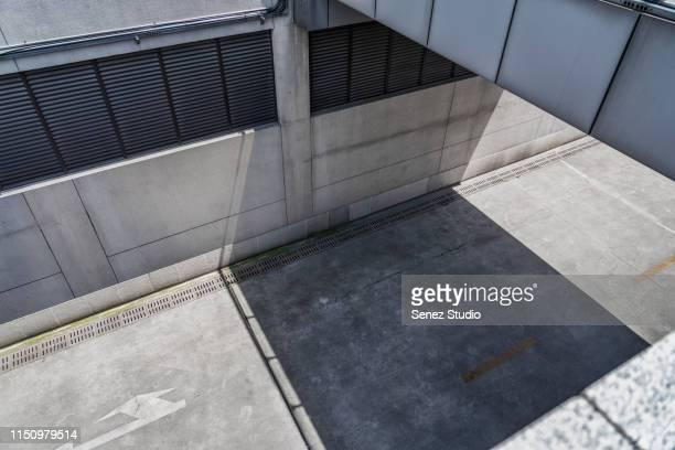 aerial view of empty road - 人気のない道路 ストックフォトと画像