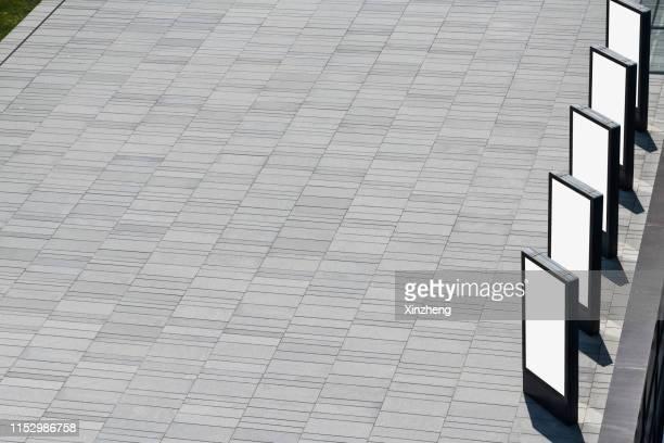 aerial view of empty road - アベニュー ストックフォトと画像
