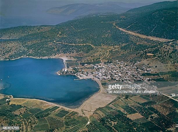 Aerial view of Epidaurus Peloponnesus Greece