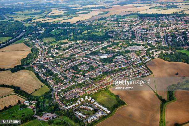 Aerial view of Epping and Essex