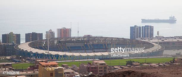 Aerial view of Estadio Regional Calvo y Bascuñán on May 12 2015 in Antofagasta Chile Antofagasta will be one of the eight host cities of the Copa...