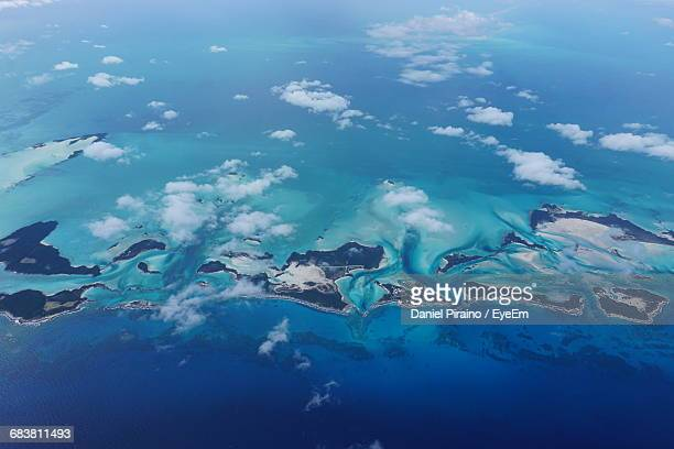 Aerial View Of Exuma In Caribbean Sea