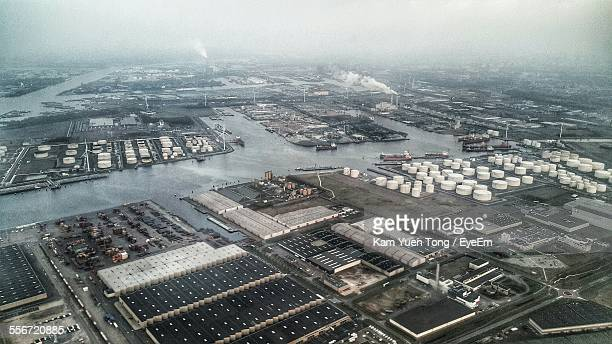Aerial View Of Factories
