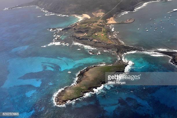 Aerial view of Fernando de Noronha Island