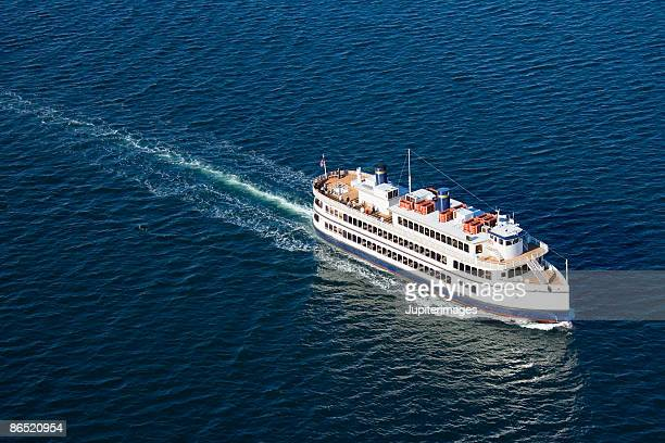 Aerial view of ferry boat