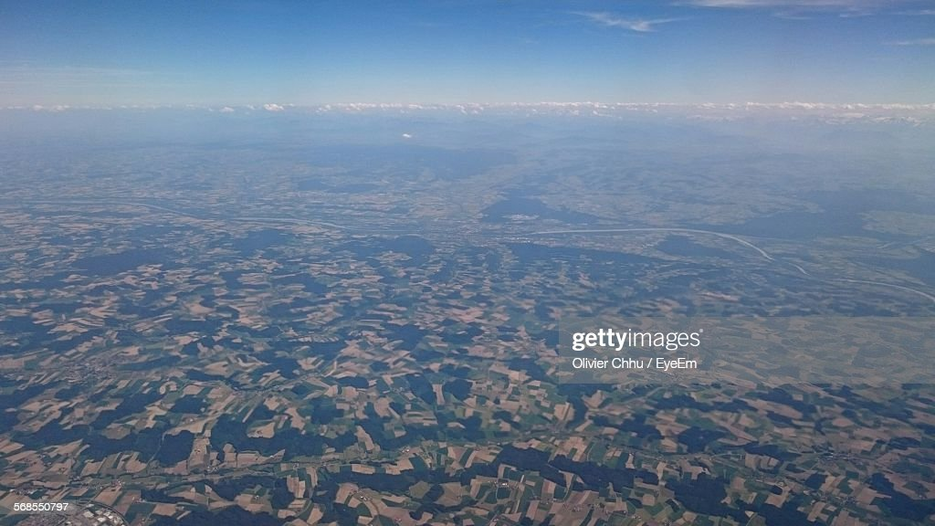 Aerial View Of Field : Stock Photo