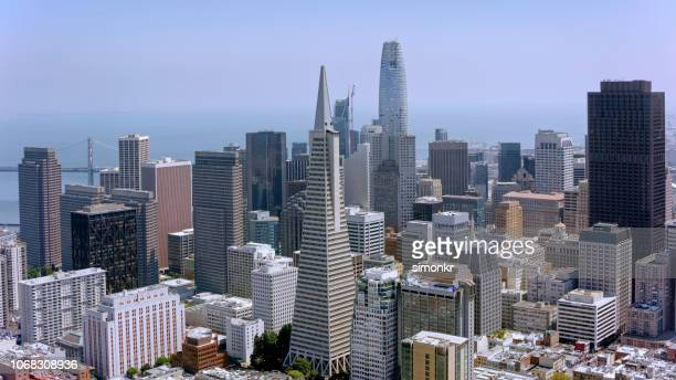 Aerial view of Financial district in San Francisco