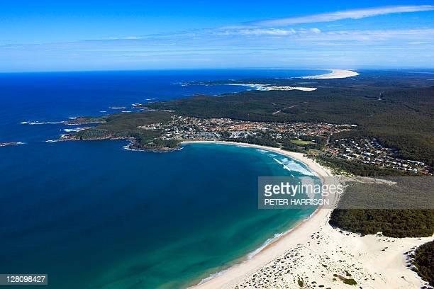 Aerial view of Fingal Bay, Port Stephens, NSW, Australia