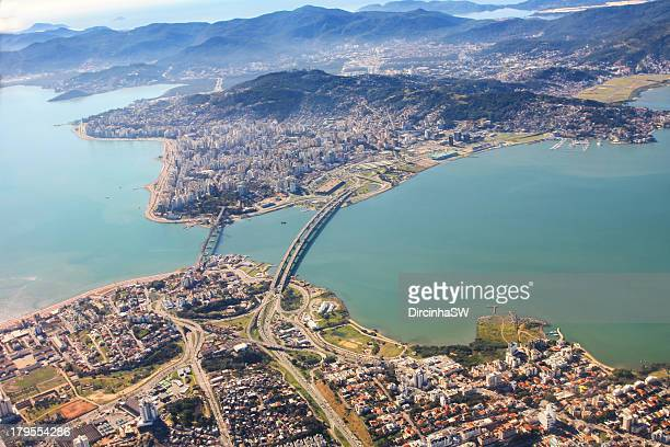 Aerial view of Florianopolis - Brazil