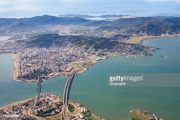 Aerial view of Florianopolis