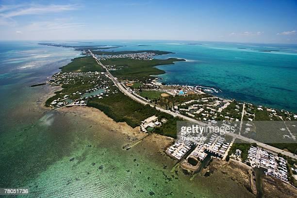 Aerial view of Florida Keys development