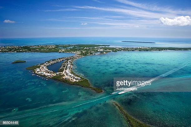 aerial view of florida keys - florida keys stock pictures, royalty-free photos & images