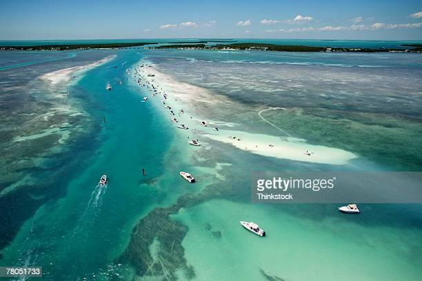 aerial view of florida keys waterway - florida keys stock pictures, royalty-free photos & images