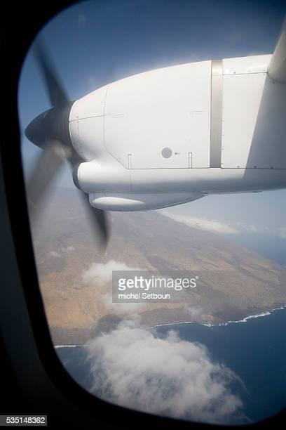 Aerial view of Fogo volcano on Fogo island