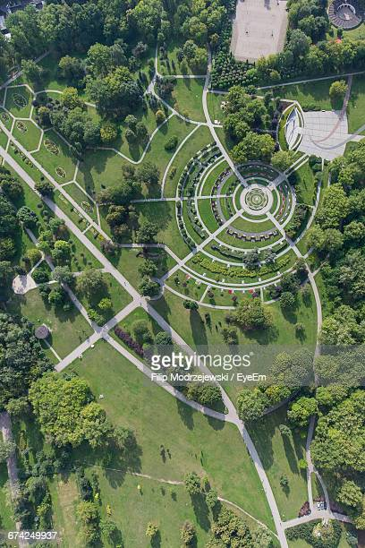 Aerial View Of Formal Garden