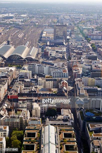 Aerial view of Frankfurt at midday