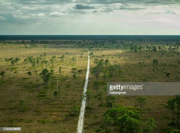 フレッド・c・バブコック/セシル・m・ウェッブ野生生物管理エリアの空中写真 - フォートマイヤーズ ストックフォトと画像
