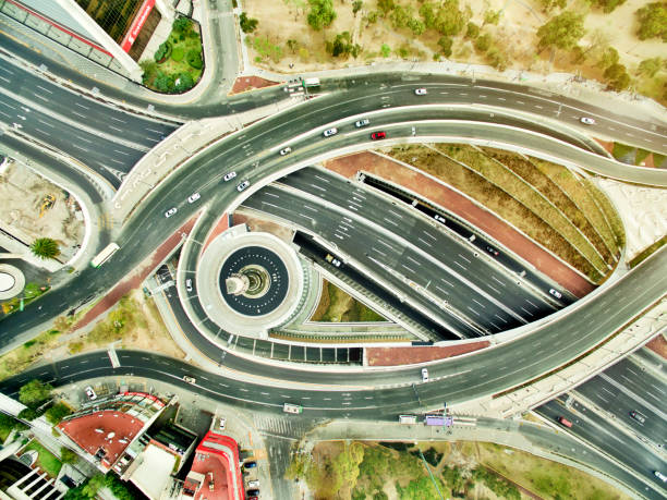 Aerial View Of Freeways In Mexico Wall Art