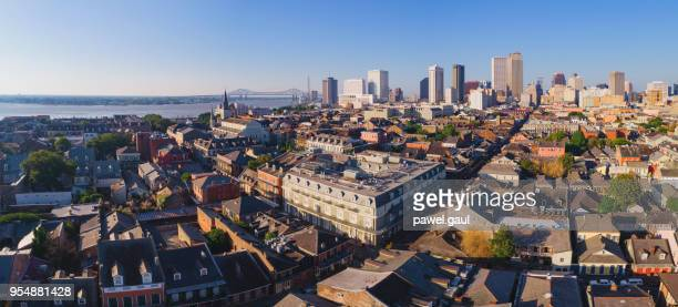 aerial view of french quarter, new orleans - louisiana - new orleans stock pictures, royalty-free photos & images