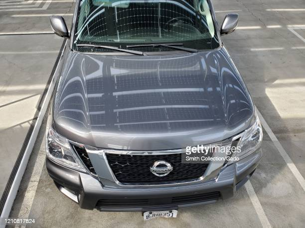 Aerial view of front portion of Nissan Armada full size Sports Utility Vehicle , San Ramon, California, March 5, 2020.