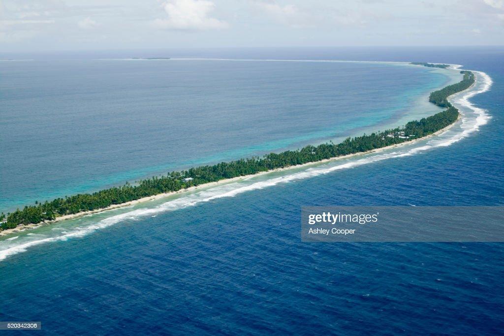 Aerial View of Funafuti Island : Stock Photo