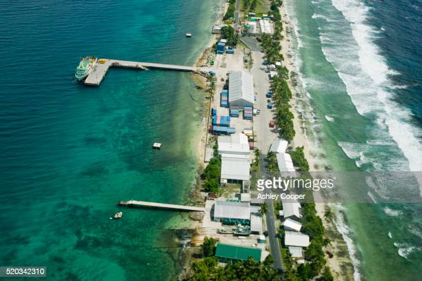 Aerial View of Funafuti Island