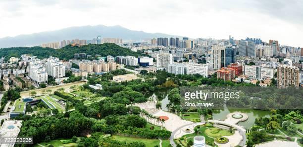 Aerial view of Fuzhou, China