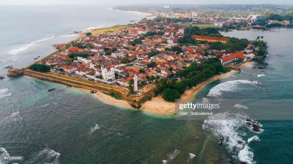 Aerial view of Galle Fort : Stock Photo