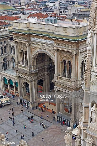 Aerial view of Galleria Vittorio Emanuelle II