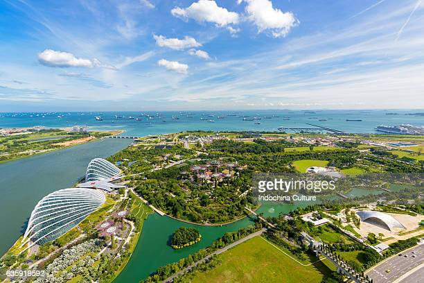 Aerial view of Garden by The Bay, Waterfront, Singapore