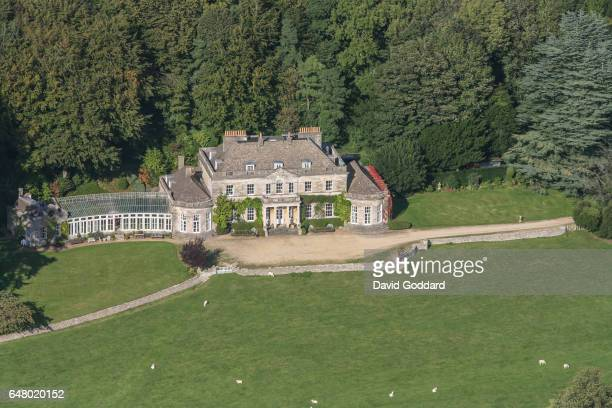 Aerial view of Gatcombe Park on October 07, 2011. Located two miles east of Nailsworth in the Cotswolds is the 18th century country residence of...